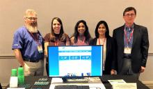 Left to right: William Nichols (GIS and Metadata Specialist), Rosalie Rossi (Program Manager), Lalitha Asirvadam (Technical Coordinator), Bipana Sigdel (Research Specialist), Dr. Jim Gibeaut (GRIIDC Director)